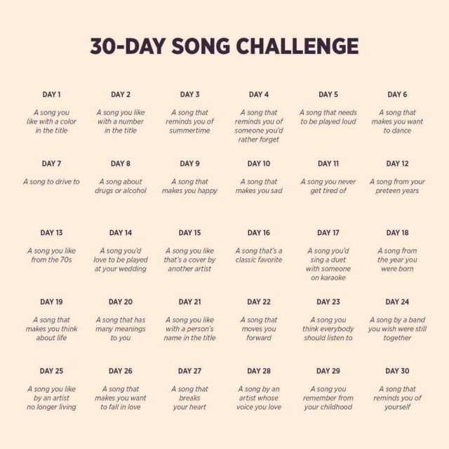 30 Day Song Challenge Thinking Moon